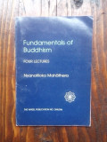 Fundamentals of buddhism - four lectures