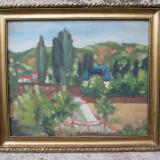 Castel in peisaj - Pictor roman, Portrete, Ulei, Impresionism