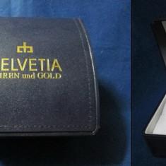 Cutie Helvetia din carton pentru ceasuri si bijuterii.
