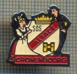 963 NEW INSIGNA -MEDICINA - SOS ALSACE CRONENBOURG - FRANTA-starea care se vede