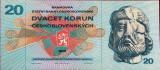 Bancnota 20 Coroane - RS CEHOSLOVACIA, anul 1970 UNC --- * Cod 786