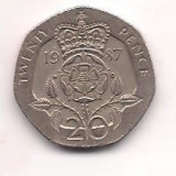 No(5) moneda- ANGLIA-20 Pence 1987