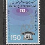Tunisia .1976 100 ani telefonul ST.589 - Timbre straine, Nestampilat