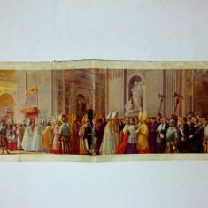 Ilustrata - cortegiu papal in Basilica Sf. Petru din Roma (interbelica)