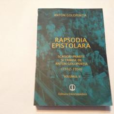 Anton Golopentia - Rapsodia epistolara -vol2,rf3/2