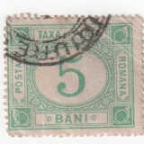 Taxe de plata, 1887-1890, 5 bani, obliterat (2) - Timbre Romania, Stampilat