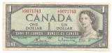 Canada 1 Dollar Dolar 1954 F