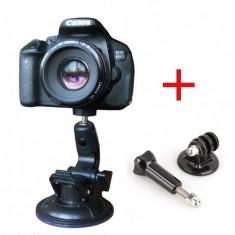 Suport auto cu ventuza compatibil action camera, DSLR, filet universal, parbriz
