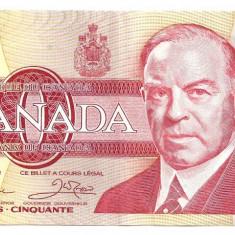 CANADA 50 DOLLARS DOLARI 1988 XF - bancnota america