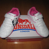 Adidasi piele naturala Lonsdale marimi 28, 29, 32, 34, Fete