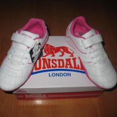 Adidasi piele naturala Lonsdale marimi 28, 29, 32, 34 - Adidasi copii Lonsdale, Culoare: Din imagine, Fete