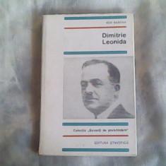 Dimitrie Leonida-Ion Bascan - Biografie