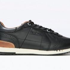 Adidasi PEPE JEANS LONDON Tinker nr. 44, InCutie, COD 182 - Adidasi barbati Pepe Jeans, Culoare: Negru, Piele naturala