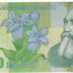 SV * Romania  BNR  10000 / 10.000  LEI  2000   polimer   semnata Ghizari     UNC