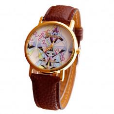 Ceas de dama casual, fashion Geneva Platinum curea din piele eco PROMOTIE!! NOU - Ceas dama Geneva, Quartz, Inox, Cauciuc, Analog