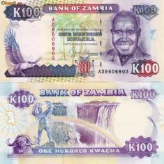 ZAMBIA 100 kwacha 1991 UNC!!!