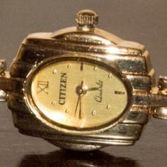 Ceas de dama femei CITIZEN ORIGINAL placat cu aur de 18K - Ceas dama Citizen, Elegant, Quartz, Analog