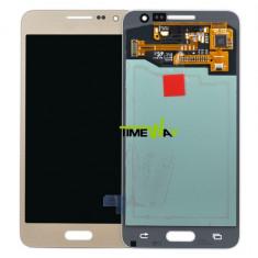 Display Samsung Galaxy A3 A300 2015 auriu touchscreen cu ecran complet - Display LCD