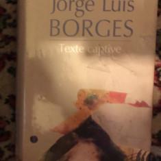 Texte captive  / Jorge Luis Borges cartonata, Polirom, 2010