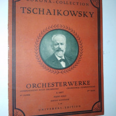 Partitura veche-CORONA COLLECTION-TSCHAIKOWSKY- piano solo C.68