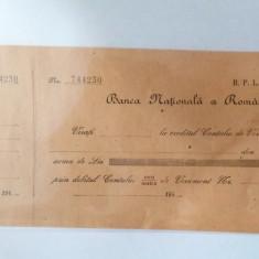 Bon de Virament - Banca Nationala a Romaniei - BNR  - din anii 1940 - 1949