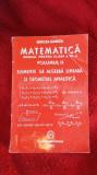 MATEMATICA A XI A ELEMENTE DE ALGEBRA LINEARA SI GEOMETRIE ANALITICA,GANGA