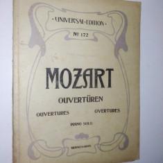 Partitura veche - Mozart -Uvertura Piano solo - Universal edition NO. 172