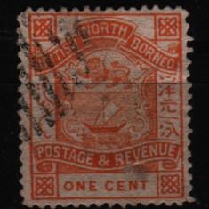 1886 nord borneo mi. 16 stampiat