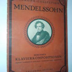 Partitura veche-CORONA COLLECTION-MENDELSSOHN- piano solo C.38