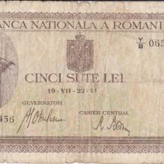 500 LEI 1941 - Bancnota romaneasca, An: 1945