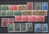 UNGARIA 1938 MI 585/90 1 SERIE MNH SI 2 SERII USED, LOT 1 ST, Nestampilat