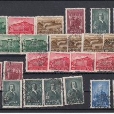 UNGARIA 1938 MI 585/90 1 SERIE MNH SI 2 SERII USED, LOT 1 ST, Nestampilat