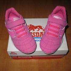 Adidasi piele naturala Lonsdale marimi 29, 31, 32 - Adidasi copii Lonsdale, Culoare: Roz, Fete