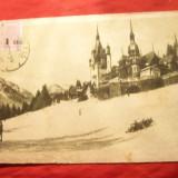 Ilustrata TCV Sinaia - Castelul Peles, circulat 1943 - Carte Postala Muntenia dupa 1918, Circulata, Printata