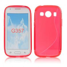 Husa Samsung Galaxy Ace 4 G357F TPU S-LINE Red - Husa Telefon Samsung, Rosu, Gel TPU, Fara snur, Carcasa