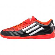 Adidas Mens Taqueiro Indoor Football Boots Black/White/Solar Red - Ghete fotbal Adidas, 40 2/3, Barbati, Sala: 1