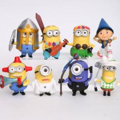 Jucarii Figurine Minioni Galbene 8 Bucati/Set Minions model 2018 Despicable Me - Figurina Desene animate