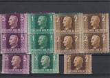 UNGARIA 1941 MI 657/59, 4 + 1 SERII MNH,LOT 1 ST, Nestampilat