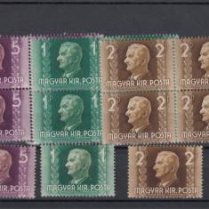 UNGARIA 1941 MI 657/59, 4 + 1 SERII MNH, LOT 1 ST, Nestampilat