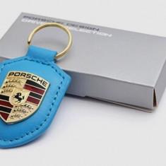 Breloc auto pentru Porsche piele eco de calitate + cutie simpla cadou