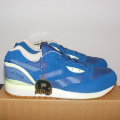 Adidasi Reebok Classic LX 8500 Desert Vibe Trainers Blue/Slate/Citrus 41 - Adidasi barbati Reebok, Culoare: Albastru, Piele intoarsa