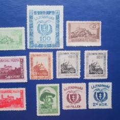 TIMBRE UNGARIA 1921 POSTA  LAJTABASAG SERIE, Nestampilat