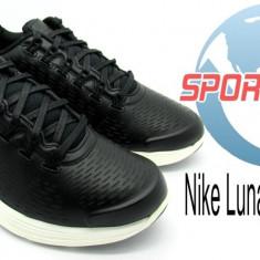 Adidasi originali Nike Lunarglide+ 4 Nsw din piele naturala - Adidasi barbati Nike, Marime: 42, Culoare: Negru
