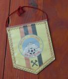 Fanion sport fotbal - Muresul explorari Deva - perioada comunista - de colectie