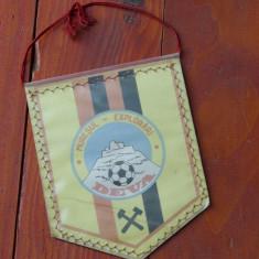 Fanion sport fotbal - Muresul explorari Deva - perioada comunista - de colectie - Fanion fotbal