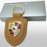 Breloc auto pentru Porsche piele eco de calitate + cutie cadou