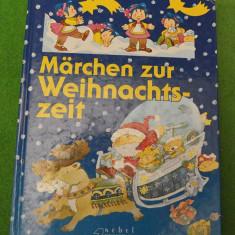 Carte de povesti pentru copii, in limba germana, povesti de Craciun, ilustratii