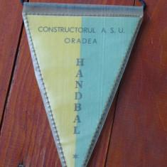Fanion sport Handbal - Constructorul A. S. U. Oradea - perioada comunista ! - Fanion fotbal