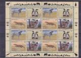 Fauna ,lupi ,zebre ,pinguini ONU posta austriaca., Nestampilat