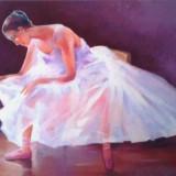 Tablou picturå,, balerinå,, - Pictor roman, Peisaje, Ulei, Miniatural